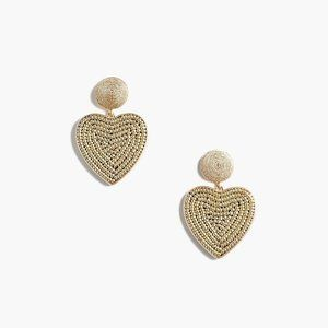 🆕 NWT 💛 J. Crew Beaded heart drop earrings